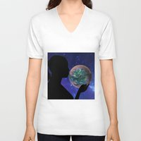 bubble V-neck T-shirts featuring Bubble by Cs025
