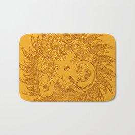 Ganesha Lineart Yellow Bath Mat