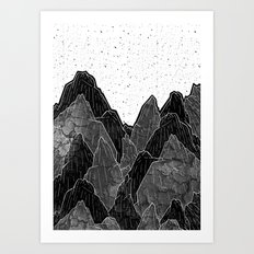 Dark Moon Mounts Art Print