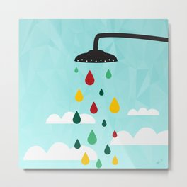 sower rain  Metal Print