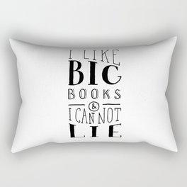 I Like Big Books (White) Rectangular Pillow