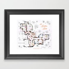 The Golden Girls House floorplan v.1 Framed Art Print