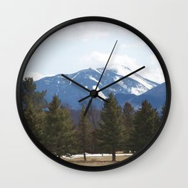 ADIRONDACKS : High Peaks in White Wall Clock