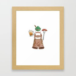 Oktoberfest Prost  Sausage Beer Drinking Framed Art Print