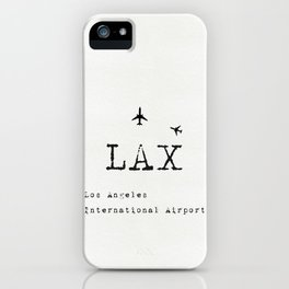 LAX Los Angeles international airport iPhone Case