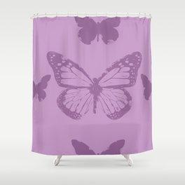 violet batterfly Shower Curtain