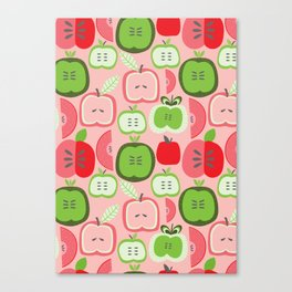 Retro Apples Canvas Print