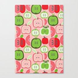 Retro Apples Canvas Print