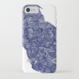 - blue lines - iPhone Case