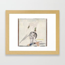 why is it so quiet Framed Art Print