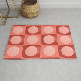 New York Moon Minimalism Living Coral Jester Rug