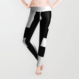 Hash Sign (Black & White) Leggings