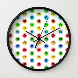 Gems Color Pattern Wall Clock