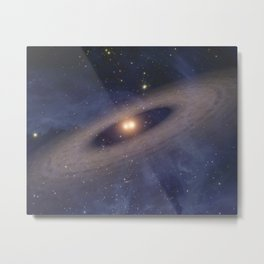 864. Two Suns Raise Family of Planetary Bodies Artist Animation Metal Print