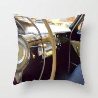 car Throw Pillows featuring Car  by Kristina Haritonova