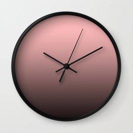 Pink, gray, black gradient. Ombre. Wall Clock