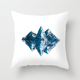 Mirror Mountain Throw Pillow