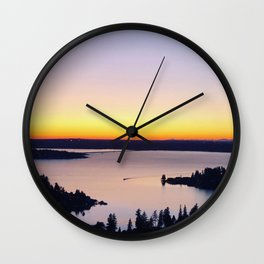 Landscape View of Sunset Wall Clock