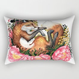 Flora and Fauna Fox Rectangular Pillow