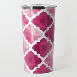 Pink tones baroque pattern Travel Mug