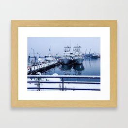 Boatyard Ushuaia - the the southernmost city in the world Framed Art Print