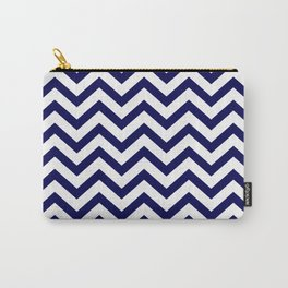 Simple Chevron Pattern - Blue & White - Mix & Match with Simplicity of life Carry-All Pouch