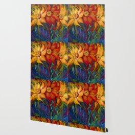 Three Sunflowers Wallpaper