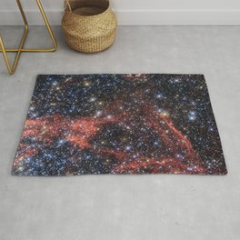 Death of a Star - Red Wispy Remains of Giant Supernova Rug