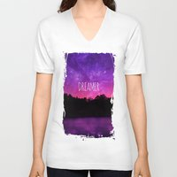 dreamer V-neck T-shirts featuring Dreamer by Berberism
