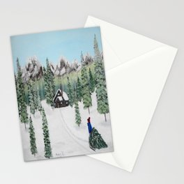 Christmas on the mountain Stationery Cards