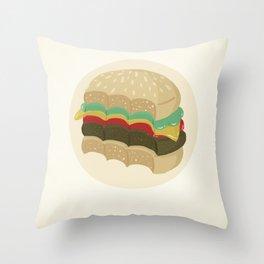 Totally a Burger Throw Pillow