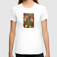 tulips T-shirts featuring Tulips  by Marjolein