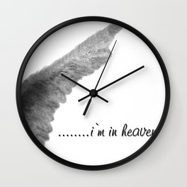 Im in heaven by Blondie & Black Boy Wall Clock