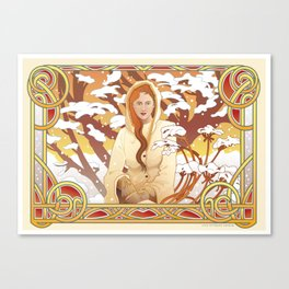Water Nouveau Canvas Print