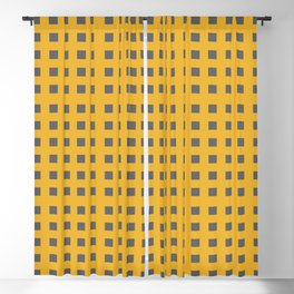 Modern gray squares on yellow Blackout Curtain