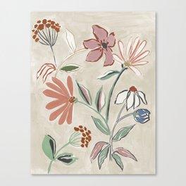 Monday Floral Canvas Print
