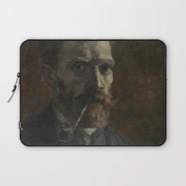 Self-Portrait with Pipe Laptop Sleeve