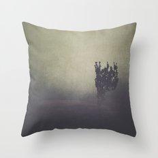 Purple Fog Throw Pillow
