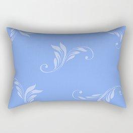 Blue on Blue Rectangular Pillow