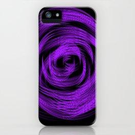 Purple Loop Illusion iPhone Case