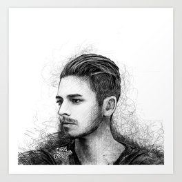 Dashboard Confessional sketch Art Print