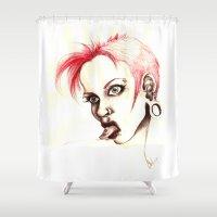 rebel Shower Curtains featuring rebel by cistus skamberji
