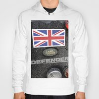 union jack Hoodies featuring Land Rover Union Jack by Premium
