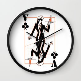 Pay Card Valet Wall Clock