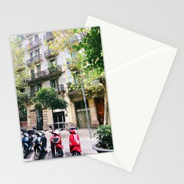 Barcelona scooters Stationery Cards
