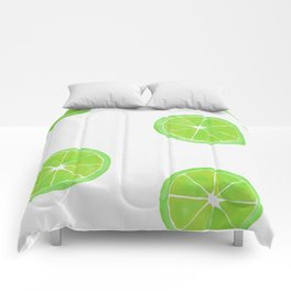 Pattern of Limes in Watercolor Comforters