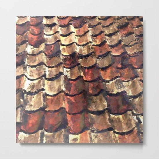 Terra Cotta Roof Tiles Metal Print