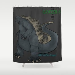 Godzilla Shower Curtain