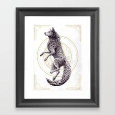 Shades of the moon Framed Art Print