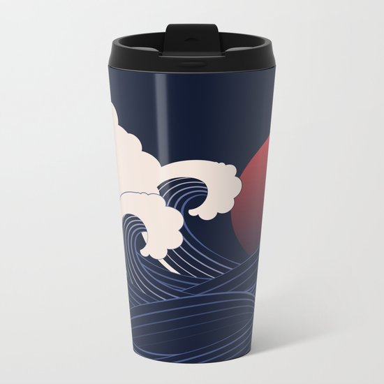 Japanese Sunset Metal Travel Mug